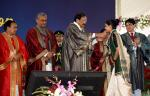 The Vice President, Shri M Venkaiah Naidu presenting awards to students during the 17th Convocation of the University of Petroleum and Energy Studies, Dehradun in Uttarakhand on November 30, 2019. The Governor of Uttarakhand, Smt. Baby Rani Maurya, the Chief Minister, Uttarakhand, Shri Trivendra Singh Rawat and others are also seen in the picture.