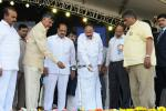 The Vice President, Shri M. Venkaiah Naidu lighting the lamp at the Golden Jubilee Celebrations of Jagarlamudi Kuppuswamy Choudhary College, in Guntur, Andhra Pradesh on February 03, 2018. The Chief Minister of Andhra Pradesh, Shri N. Chandrababu Naidu and other dignitaries are also seen.