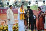 The Vice President, Shri M. Venkaiah Naidu lighting the lamp to inaugurate the 1st International Kala Mela, organised by the Lalit Kala Adademi, in New Delhi on February 04, 2018. The Minister of State for Culture (I/C) and Environment, Forest & Climate Change, Dr. Mahesh Sharma and other dignitaries are also seen.