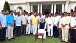 The Vice President, Shri M. Venkaiah Naidu with the Members of Local Bodies from West Godavari District of Andhra Pradesh, in New Delhi on February 06, 2018.