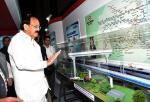 The Vice President, Shri M. Venkaiah Naidu looking at the stall in the Exhibition on 10th Urban Mobility India Conference & Exhibition, 2017 and CODATU XVII Conference, in Hyderabad on November 04, 2017.