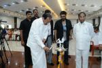 The Vice President, Shri M. Venkaiah Naidu lighting the lamp at the second anniversary of Swarna Bharat Trust and to inaugurate Mega Health Camp on the occasion of World Cancer Day, in Atkur, Andhra Pradesh on February 04, 2018. The judge of the Supreme Court of India, Justice L. Nageswara Rao, the Speaker of Andhra Pradesh Legislative Assembly, Dr. Kodela Sivaprasad, the Minister for Health and Medical Education, Andhra Pradesh, Dr. Kamineni Sreenivas, Film Hero, Shri Venkatesh and other dignitaries are al