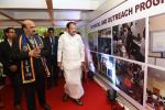 The Vice President, Shri M. Venkaiah Naidu going around the Exhibition at the 4th Convocation of the National Institute of Technology, in Panaji, Goa on September 28, 2018. The Governor of Goa, Smt. Mridula Sinha, the Chairman and Members of Board of Governors, NIT Goa and other dignitaries are also seen.
