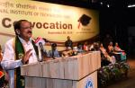 The Vice President, Shri M. Venkaiah Naidu addressing the 4th Convocation of the National Institute of Technology, Panaji, Goa on September 28, 2018. The Governor of Goa, Smt. Mridula Sinha, the Chairman and Members of Board of Governors, NIT Goa and other dignitaries are also seen.