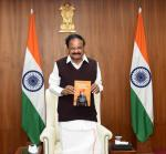 """The Vice President, Shri M. Venkaiah Naidu virtually releasing the book titled """"Parliamentary Messenger in Rajasthan"""" in New Delhi on 05 February, 2021."""