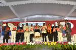 The Vice President, Shri M. Venkaiah Naidu releasing the souvenir at an event to inaugurate the Golden Jubilee Celebrations of J.S.P.S Government Homeopathic Medical College, in Hyderabad on December 23, 2017. The Minister for Medical, Health & Family Welfare, Telangana, Dr. C. Laxma Reddy and other dignitaries also seen.