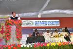 The Vice President, Shri M. Venkaiah Naidu addressing the gathering after inaugurating the Golden Jubilee Celebrations of J.S.P.S Government Homeopathic Medical College, in Hyderabad on December 23, 2017.