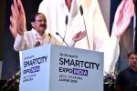 The Vice President, Shri M. Venkaiah Naidu addressing the inaugural session of the Smart City Expo India 2018, in Jaipur, Rajasthan on September 26, 2018.