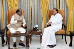 The Speaker of Lok Sabha, Shri Om Birla calling on the Vice President, Shri M. Venkaiah Naidu, in New Delhi on June 19, 2019.