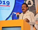 The Vice President, Shri M. Venkaiah Naidu addressing the gathering after inaugurating the DigiTech Conclave 2019 and launching ET Government Portal of The Times Group, in New Delhi on June 14, 2019.