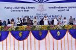 The Vice President, Shri M. Venkaiah Naidu releasing a book on Education Methodology at the Centenary Year Celebrations of Patna University Library, in Patna, Bihar on August 04, 2019. The Governor of Bihar, Shri Fagu Chauhan, the Chief Minister of Bihar, Shri Nitish Kumar, the Deputy Chief Minister of Bihar, Shri Sushil Kumar Modi, the Vice Chancellor of Patna University, Shri Rash Bihari Prasad Singh and other dignitaries are also seen.