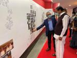 The Vice President, Shri M. Venkaiah Naidu visiting the Exhibition of IMSc & the Exhibition on INO and DAE Technologies in Chennai on 5 January 2021.