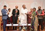 The Vice President, Shri M. Venkaiah Naidu presenting certificates to the Master Trainers at the National Conclave on Women's Empowerment Through Financial Literacy, organized by the Learning Links Foundation, in Hyderabad on April 19, 2019.