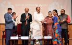 The Vice President, Shri M. Venkaiah Naidu presenting certificates to the Master Trainers at the National Conclave on Women's Empowerment Through Financial Literacy, organized by the Learning Links Foundation, in Hyderabad on April 19, 2019.The Vice President, Shri M. Venkaiah Naidu presenting certificates to the Master Trainers at the National Conclave on Women's Empowerment Through Financial Literacy, organized by the Learning Links Foundation, in Hyderabad on April 19, 2019.