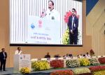 The Vice President, Shri M. Venkaiah Naidu addressing the gathering at the 164th Central Public Works Department Day celebrations, in New Delhi on July 12, 2018. The Minister of State for Tourism (I/C), Shri Alphons Kannanthanam and other dignitaries are also seen.
