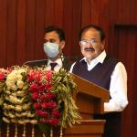 The Vice President, Shri M. Venkaiah Naidu addressing the gathering at The Institute of Mathematical Sciences, Chennai on 5 January 2021