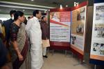 The Vice President, Shri M. Venkaiah Naidu and Smt. Usha Naidu visiting the Exhibition showcasing the major events in his life, including the glimpses of his 2 years in office as the Vice President of India, organized by the Ministry of Information and Broadcasting, in Chennai on August 11, 2019. The Union Minister for Environment, Forest & Climate Change and Information & Broadcasting, Shri Prakash Javadekar and other dignitaries are also seen.