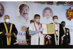 The Vice President, Shri M. Venkaiah Naidu at the 41st convocation of Tamil Nadu Agricultural University in Coimbatore on 17 December, 2020. Governor of Tamil Nadu, Shri Banwarilal Purohit is also seen.