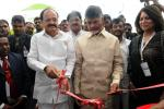 The Vice President, Shri M. Venkaiah Naidu inaugurating the Exhibition on AP AgTech Summit 2017, in Vizag, Andhra Pradesh on November 15, 2017. The Chief Minister of Andhra Pradesh, Shri N. Chandrababu Naidu and other dignitaries are also seen.
