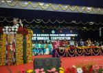 The Vice President, Shri M. Venkaiah Naidu addressing the 49th Convocation of Acharya N.G. Ranga Agricultural University (ANGRAU), in Nellore, Andhra Pradesh on October 04, 2017. The Governor of Andhra Pradesh and the Chancellor of ANGRAU, Shri E.S.L Narasimhan, the Agriculture Minister of Andhra Pradesh, Shri Somireddy Chandra Mohan Reddy and other dignitaries are also seen.