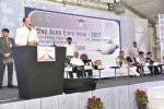 The Vice President, Shri M. Venkaiah Naidu addressing the gathering at the inaugural function of the 2nd 'Aero Expo India-2017', in New Delhi on November 02, 2017. The Union Minister for Civil Aviation, Shri Ashok Gajapathi Raju Pusapati and the Minister of State for Civil Aviation, Shri Jayant Sinha are also seen.
