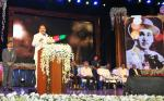 The Vice President, Shri M. Venkaiah Naidu addressing the gathering after presenting the Akkineni Nageswara Rao National Film Award, in Hyderabad on September 17. 2017. The Chief Minister of Telangana, Shri Chandrashekar Rao, Film Actor, Shri Akkineni Nagarjuna, the recipient of the Award, Shri S.S. Rajamouli and other dignitaries are also seen.