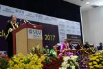 The Vice President, Shri M. Venkaiah Naidu addressing the Special Convocation 2017 of SRM University, in Chennai on November 23, 2017. The Governor of Tamil Nadu, Shri Banwarilal Purohit, the Minister for Higher Education, Tamil Nadu, Shri K.P. Anbalagan and other dignitaries are also seen.