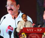 The Vice President, Shri M. Venkaiah Naidu addressing the gathering after inaugurating  the new campus of Vellore Institute of Technology, in Amaravati, Andhra Pradesh on November 28, 2017.