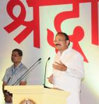 The Vice President, Shri M. Venkaiah Naidu addressing the gathering at an event to inaugurate the Centenary year celebrations of the Mahasamadhi of Shri Shirdi Sai Baba, in New Delhi on October 15, 2017.