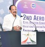 The Vice President, Shri M. Venkaiah Naidu addressing the gathering at the inaugural function of the 2nd 'Aero Expo India-2017', in New Delhi on November 02, 2017.