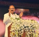The Vice President, Shri M. Venkaiah Naidu addressing the gathering after presenting the Akkineni Nageswara Rao National Film Award, in Hyderabad on September 17. 2017.