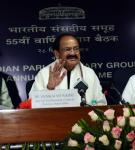 The Vice President, Shri M. Venkaiah Naidu addressing the gathering after releasing the Lok Sabha Calendar for the year 2018, in New Delhi on December 28, 2017.