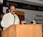 The Vice President, Shri M. Venkaiah Naidu addressing the gathering after releasing the Book 'The 21st Century Geopolitics, Democracy and Peace', authored by Shri B.P. Singh, in New Delhi on October 30, 2017.