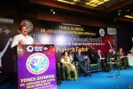 The Vice President, Shri M. Venkaiah Naidu addressing the gathering after inaugurating the Yonex-Sunrise Dr. Akhilesh Das Gupta India Open 2018 Badminton World Federation Super Series World Tour and conferring the Life Time Achievement Award to legendary Badminton player, Shri Prakash Padukone, in New Delhi on January 29, 2018.