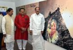 The Vice President, Shri M. Venkaiah Naidu at the Exhibition on the legendary Carnatic Vocalist, Dr. M.S. Subbulakshmi, on the occasion of her Birth Centenary Commemoration, in New Delhi on September 19, 2017. The Minister of State for Culture (I/C) and Environment, Forest & Climate Change, Dr. Mahesh Sharma and other dignitaries are also seen.