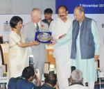 The Vice President, Shri M. Venkaiah Naidu giving away the Bharatiya Yuva Shakti Awards, at the International Mentoring Summit on 'Mentoring Young Grampreneurs for Inclusive Growth', organised by the Bharatiya Yuva Shakti Trust, in New Delhi on November 09, 2017. The Prince of Wales is also seen.