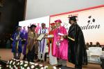 The Vice President, Shri M. Venkaiah Naidu giving away Awards at the Eighth Convocation of Gandhi Institute of Technology and Management (GITAM), in Hyderabad on November 18, 2017. The Minister for Irrigation, Marketing & Legislative Affairs, Shri T. Harish Rao, the Chancellor of GITAM University, Prof. K. Ramakrishna Rao and other dignitaries are also seen.
