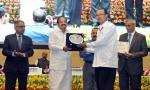 The Vice President, Shri M. Venkaiah Naidu giving away the 'Vigilance Excellence Awards' at the 'Vigilance Awareness Week' function organised by the Central Vigilance Commission, in New Delhi on October 30, 2017. The Minister of State for Development of North Eastern Region (I/C), Prime Minister's Office, Personnel, Public Grievances & Pensions, Atomic Energy and Space, Dr. Jitendra Singh, the Cabinet Secretary, Shri P.K. Sinha, the Central Vigilance Commissioner, Shri K.V. Chowdary and other dignitaries ar