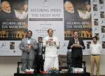 The Vice President, Shri M. Venkaiah Naidu releasing the book 'Securing India: The Modi Way', authored by Shri Nitin Gokhale, in New Delhi on September 29, 2017. The Minister of State for Defence, Dr. Subhash Ramrao Bhamre is also seen.