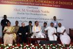 The Vice President, Shri M. Venkaiah Naidu at an event to celebrate 160 Years of Cochin Chamber of Commerce and Industry, in Kochi, Kerala on November 22, 2017. The Governor of Kerala, Shri P. Sathasivam, the Minister for Local Self-Governments, Welfare of Minorities, Wakf and Haj, Kerala, Dr. K.T. Jaleel and other dignitaries are also seen.
