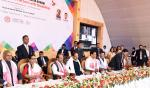 The Vice President, Shri M. Venkaiah Naidu at an event to launch Deen Dayal Divyanjan Sahajya Achoni on the occasion of International Day of Persons with Disabilities, in Guwahati, Assam on December 03, 2017. The Governor of Assam, Shri Jagdish Mukhi, the Chief Minister of Assam, Shri Sarbananda Sonowal, the Minister for Social Welfare, Assam, Shri Naba Kumar Doley and other dignitaries are also seen.