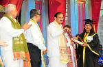 The Vice President, Shri M. Venkaiah Naidu presenting degrees to the studetns at the Convocation of Tripura University, in Agartala, Tripura on May 23, 2018. The Governor of Tripura, Prof. Tathagata Roy and other dignitaries are also seen.