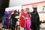 The Vice President, Shri M. Venkaiah Naidu awarding Degrees to the students at the Eighth Convocation of Gandhi Institute of Technology and Management (GITAM), in Hyderabad on November 18, 2017. The Minister for Irrigation, Marketing & Legislative Affairs, Shri T. Harish Rao, the Chancellor of GITAM University, Prof. K. Ramakrishna Rao and other dignitaries are also seen.