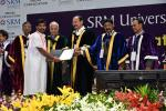 The Vice President, Shri M. Venkaiah Naidu giving away degrees to the Students at the Special Convocation 2017 of SRM University, in Chennai on November 23, 2017. The Governor of Tamil Nadu, Shri Banwarilal Purohit, the Minister for Higher Education, Tamil Nadu, Shri K.P. Anbalagan and other dignitaries are also seen.
