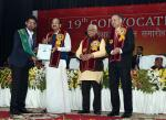 The Vice President, Shri M. Venkaiah Naidu awarding degrees to Students at the 19th Convocation of Chandra Shekhar Azad University of Agriculture and Technology, in Kanpur, Uttar Pradesh on December 04, 2017. The Governor of Uttar Pradesh, Shri Ram Naik, the Minister for Agriculture, Uttar Pradesh, Shri Surya Pratap Shahi and other dignitaries are also seen.