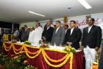 The Vice President, Shri M. Venkaiah Naidu at an event to meet the Members from Advocates Associations of Andhra Pradesh & Telangana, in Hyderabad on November 20, 2017. The Acting Chief Justice of Andhra Pradesh & Telangana, Justice Ramesh Ranganathan, Deputy Chief Minister of Telangana, Shri Mohammad Mahmood Ali and other dignitaries are also seen.