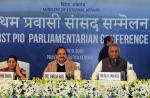 The Vice President of India, Shri M. Venkaiah Naidu at the Valedictory Session of the First PIO Parliamentarian Conference, in New Delhi on January 09, 2018. The Union Minister for External Affairs, Smt. Sushma Swaraj and the Minister of State for External Affairs, General (Retd.) V.K. Singh are also seen.