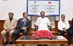 The Vice President, Shri M. Venkaiah Naidu at an event to release the Commemorative Postage Stamp on the International Association of Lions Clubs, in New Delhi on May 25, 2018.