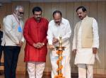 The Vice President, Shri M. Venkaiah Naidu lighting the lamp at an event to inaugurate the Exhibition on the legendary Carnatic Vocalist, Dr. M.S. Subbulakshmi, on the occasion of her Birth Centenary Commemoration, in New Delhi on September 19, 2017. The Minister of State for Culture (I/C) and Environment, Forest & Climate Change, Dr. Mahesh Sharma and other dignitaries are also seen.