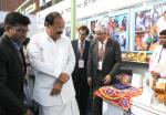The Vice President, Shri M. Venkaiah Naidu visiting the Exhibition on the International Mentoring Summit on 'Mentoring Young Grampreneurs for Inclusive Growth', organised by the Bharatiya Yuva Shakti Trust, in New Delhi on November 09, 2017.